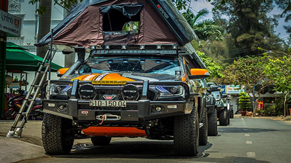 Bán tải Ford Ranger độ hơn nửa tỷ đồng của dân chơi Việt
